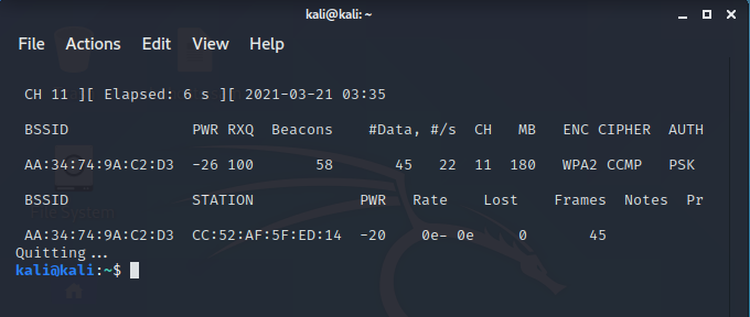 monitoring network for wifi deauthennticating attack